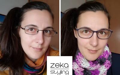 Színtanácsadás előtt és után-Nóra