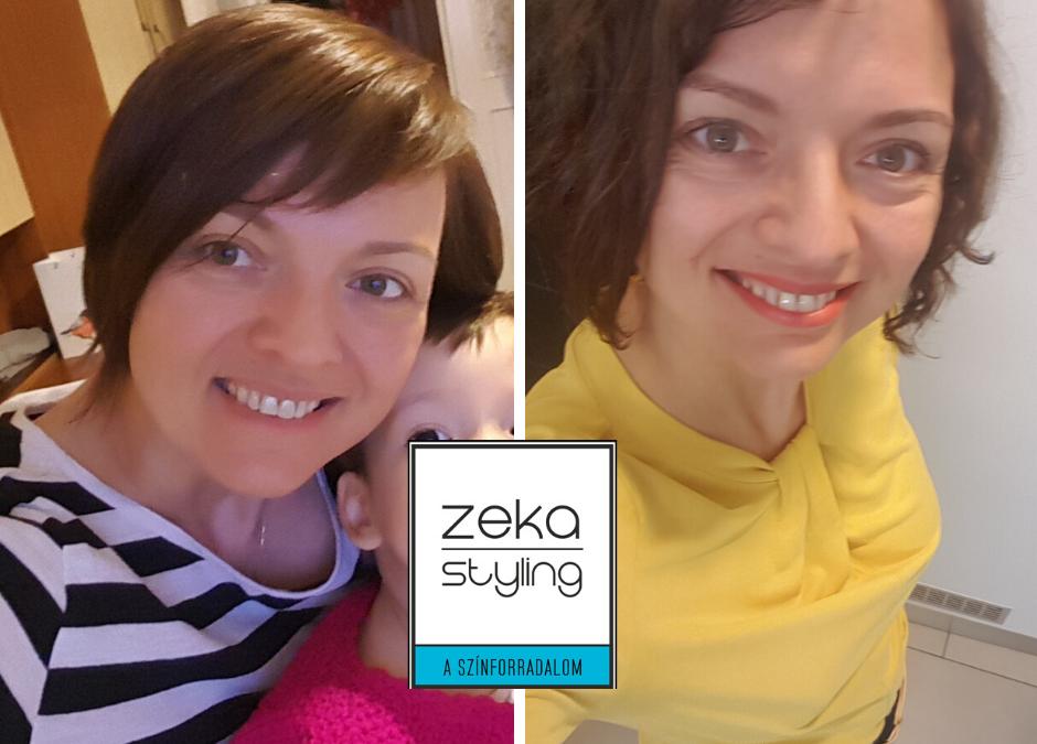 Színtanácsadás előtt-után- Zsuzsa